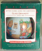 1988 Hallmark Betsey Clark Home for Christmas Ornament Ball In Original Box - $9.85