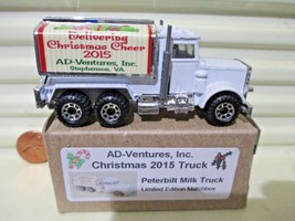 Matchbox MB56D CHRISTMAS 2015 Ad-Ventures, Inc. PETERBILT MILK Truck New... - $59.35