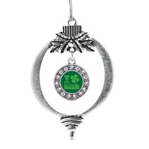 Inspired Silver I Love Beer Circle Holiday Decoration Christmas Tree Ornament - $14.69