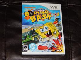 New!SpongeBob's Boating Bash Nintendo Wii Free Shipping SpongeBob Square... - $29.69