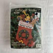 Bucilla 33251 Christmas Surprises Felt Christmas Stocking Kit 1993 Vtg S... - $34.64