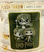 "Harry Potter  Ron Hermione Cartoon Animated 48"" X 60"" Throw Blanket Gryf... - $46.64 CAD"