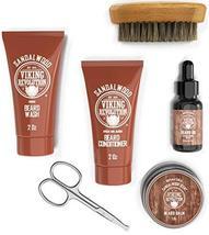 Beard Care Kit for Men Gift- Beard Grooming Kit Contains Travel Size Beard Oil,  image 4