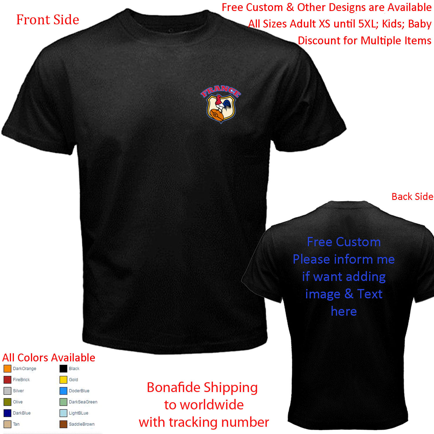 France   the rooster shirt