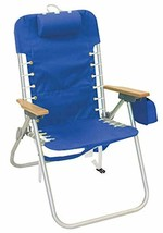 """Rio Beach Hi-Boy 17"""" Suspension Folding Backpack Beach Chair Light Blue - £58.41 GBP"""