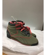 Womens Olive Green Reebok Classic Hightops Size 7 - $42.31