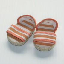 American Girl Molly McIntire 1944 Swim Set Stripe Shoes Sandals Only for... - $14.99