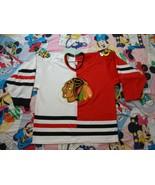 Vintage NHL Chicago Blackhawks Split red white Jersey XL  - $64.34