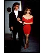 LISA HARTMAN ca 1980s Live Candid Busty Tight Dress Oversized Vintage Ph... - $14.65