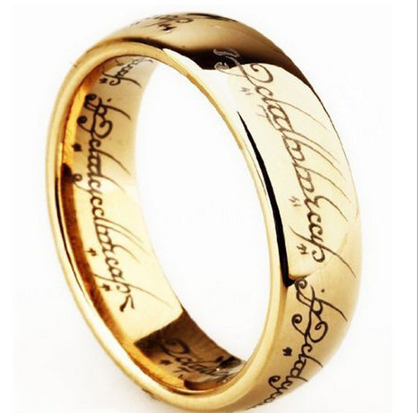 """10 x fashion titanium steel classic gold color for men fashion jewelry 17"""" rings"""