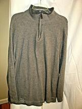 Tasso Elba Men's Size XXL Shirt Henley Sweater with Banded Collar 1/4 zi... - $22.76