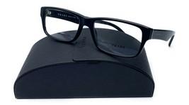 Prada Unisex Matte Black Rectangle Glasses with case VPR 16M 1BO-1O1 55mm - $209.99
