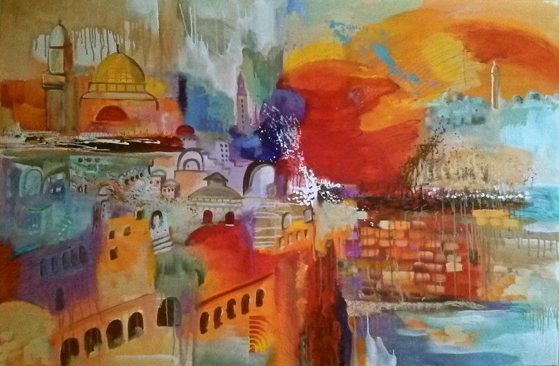 Primary image for City of Hope Painting by Dalia Kantor