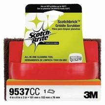 """Scotch-Brite Scotchbrick Griddle Scrubber 9537CC, 4"""" x 6"""" x 3"""" (3 Bags o... - $62.52"""
