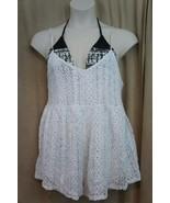Jessica Simpson Natation Haut TAILLE S Blanc Crochet sans Manche Barboteuse - $45.07