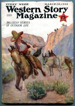 Western Story Magazine Pulp March 10 1923- Johnston McCulley VG+ - $100.88