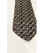 Mens Silk Dress Tie Club Room geometric 3D 100% silk made in USA - $9.90