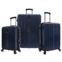 Travelers Choice Tasmania Luggage Set, Large, 3-Piece, Navy - $307.45