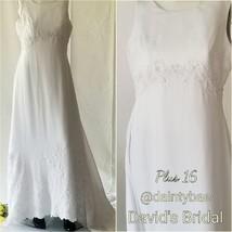 Davids Bridal Gown w/ Train GV Size 16 - $259.00