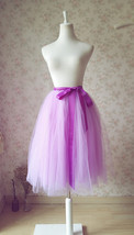 Purple Tulle Tutu Skirt High Waisted 4-Layered Tulle Skirt Ballet Skirt image 3