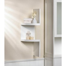 2-Tier White Corner Shelf - $24.68