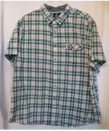 Men's Jautica Jeans Co Short Sleeve Shirt Snaps Cotton Plaid SZ 2XL - $14.00