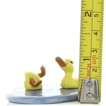 Hagen Renaker Bird Duck Baby Pond Ceramic Figurine Set image 2