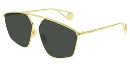 Gucci GG0437SA-002 Gold Tone Metal Frame Grey Lens 60mm Sunglasses - $268.52
