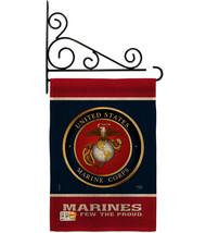 Proud Marine Corps Burlap - Impressions Decorative Metal Fansy Wall Brac... - $36.97
