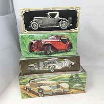 Lot of 4 AVON Vintage Cars Cologne Bottles with Boxes And Full 1935 MG Cord 37 - $37.99