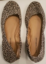 Lucky Brand Emmie Womens Leather Ballet Flat Black Shoes Size 8.5 - $37.39