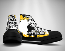 Don't Think, Feel. Fighter Quote Canvas Sneakers Shoes - $49.99