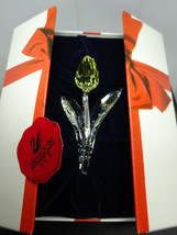 Swarovski Crystal Large Yellow Tulip Flower Swan Mark Faceted Bud Scs Box,Mib - $59.00