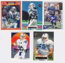 Indianapolis Colts Signed Autographed Lot of (5) Football Cards - George... - $14.99