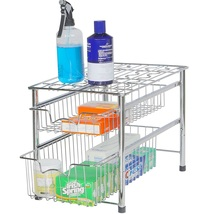 Sliding Basket Drawer Organizer 2 Tier Kitchen ... - $43.99