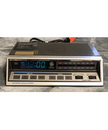 Vintage GE Alarm Clock Radio Model 7-4663A Two Wake Times Blue Light Digits - $19.79
