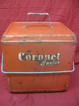 Vintage 1950's Red Metal Coronet Cooler  - $39.59