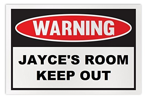 Personalized Novelty Warning Sign: Jayce's Room Keep Out - Boys, Girls, Kids, Ch