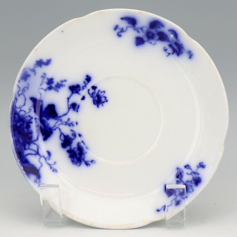 Flow Blue Duchess Saucer c1900 Grindley England a Set of 3