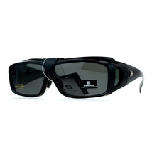 Polarized Fit Over Sunglasses Flip Up Lens Mens Over Glasses Frames Black - $13.95
