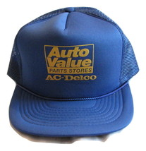 Auto Value Parts Stores AC-Delco Blue Baseball Trucker Hat Snap Back VIN... - $5.99