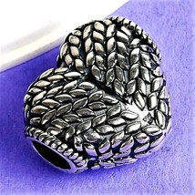 .925 STERLING Silver 5.21 GRAM WEIGHT Heart Charm  - $48.39