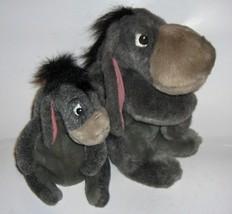 TWO vintage lay flat/sitting  Eeyore's - gray plush - Walt Disney World -( pooh) - $22.00