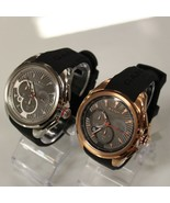 New GANT W11001 Silver / W11006 Rose Gold Chronograph Silicone Band Men ... - $211.20