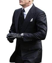 Mens James Bond Spectre Daniel Craig 3 Piece Black Suit image 2