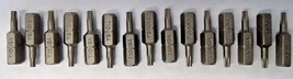"Bosch T10 x 1"" Insert Bits Screw Tips 15pcs. 9915370 USA - $3.71"