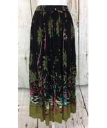 Hawaiian 16W Luau Themed Gauzy Women's Blk Maxi Sweeping Skirt Plus Size... - $23.75