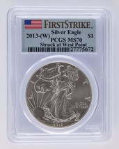 2013-(W) Silver 1oz American Eagle $1 First Strike PCGS Graded MS 70 - $89.09