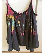 """Girl's """"Play Six"""" 100% Rayon Black Watercolor Print Camisole (6X) - $20.57"""