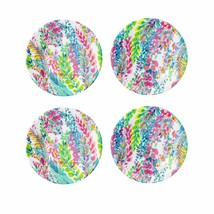 Lilly Pulitzer Appetizer Plates Set of 4 Dishwasher Safe Catch The Wave - $31.91